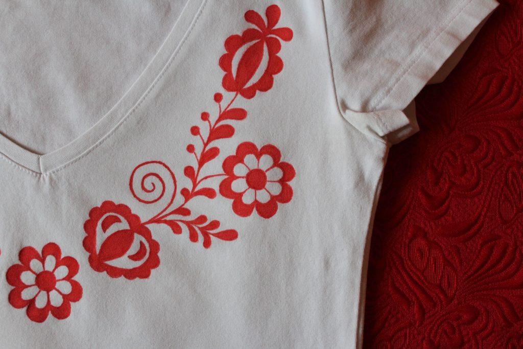 ľudový ornament tričko La Florita